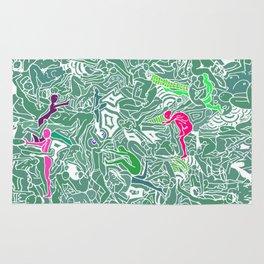 Body Map - Sea Green Rug