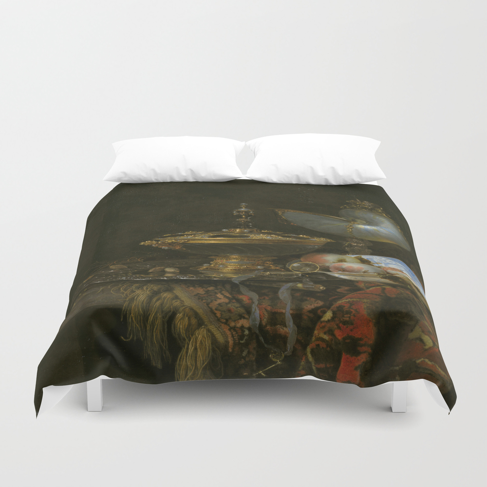 Still Life With Holbein Bowl, Nautilus Cup, Glass … Duvet Cover by Ortolanastudio DUV7628632