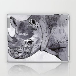 Rhino - Animal Series in Ink Laptop & iPad Skin