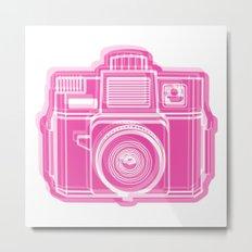 I Still Shoot Film Holga Logo - Pink Metal Print