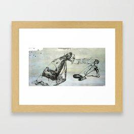 push/pull Framed Art Print