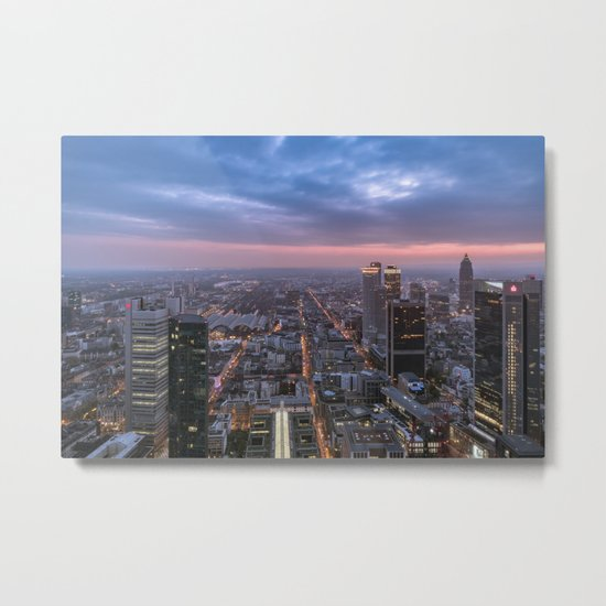 The roads Frankfurt am Main Metal Print