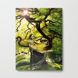 Beneath the Bodhi Tree Metal Print
