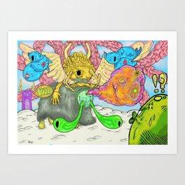What Happened on Marshmallow Mountain Art Print