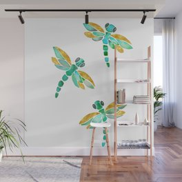 Dragonfly - Green Palette Wall Mural