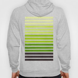 Watercolor Gouache Mid Century Modern Minimalist Colorful Sap Green Stripes Hoody