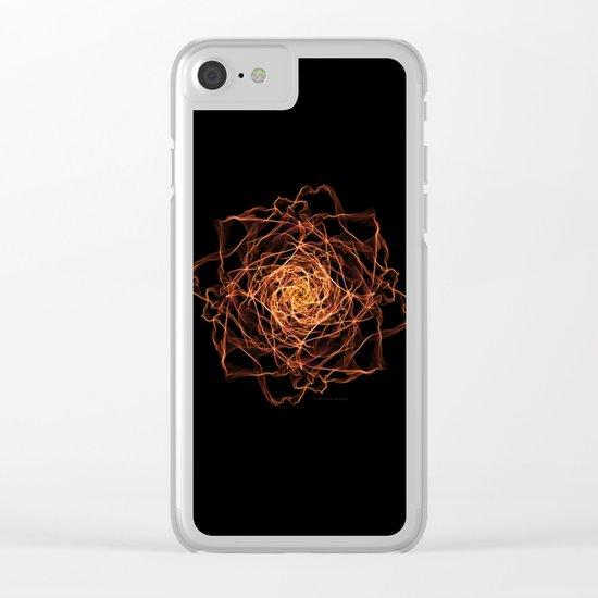 Fire Rose Clear iPhone Case