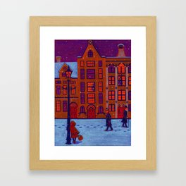 Little Match Girl Framed Art Print