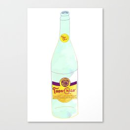 Topo Chico Sparkling Water Seltzer Bottle Canvas Print