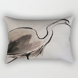 Japanese Crane #society6 #decor #buyart Rectangular Pillow
