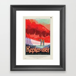 Kepler-186 : NASA Retro Solar System Travel Posters Framed Art Print