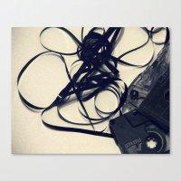 cassette Canvas Prints featuring Cassette by Ashli Amabile Designs