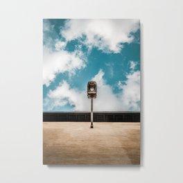 Lamp in the clouds Metal Print