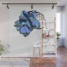 Blue Rose Headpiece Wall Mural