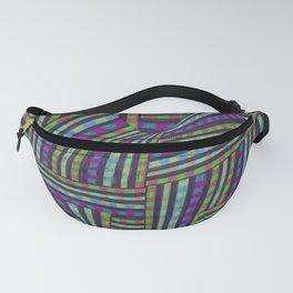 Psyco Stripes Design Fanny Pack