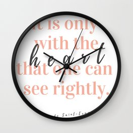 Only With The Heart Wall Clock
