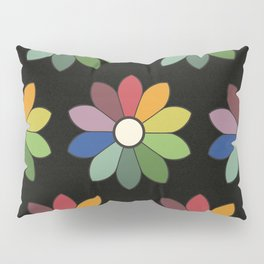 Flower pattern based on James Ward's Chromatic Circle (vintage wash) Pillow Sham