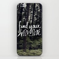 into the wild iPhone & iPod Skins featuring Wild by Leah Flores