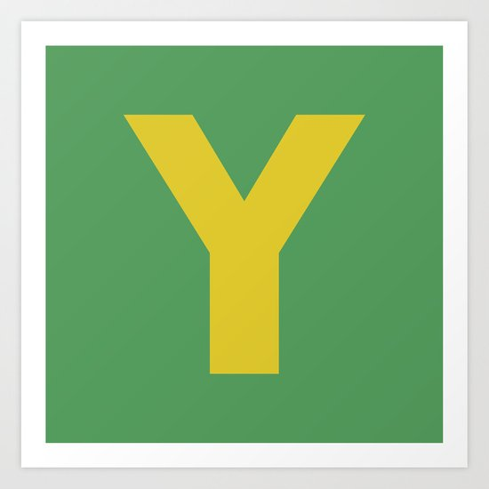 Y is for... Art Print