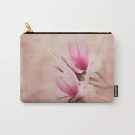 Pink Magnolia III - Flower Art Carry-All Pouch