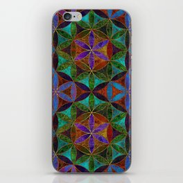 The Flower of Life (Sacred Geometry) 2 iPhone Skin