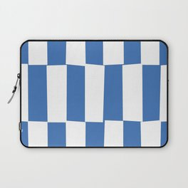 Modern royal blue and white trendy checker pattern Laptop Sleeve
