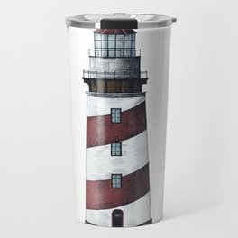 Nautical Red Light House Travel Mug