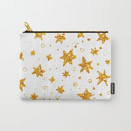 Background with golden glitter stars Carry-All Pouch