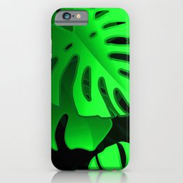 Tropical Leaves Lush and Lavish Pattern iPhone Case
