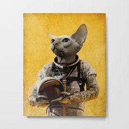 Proud astronaut Metal Print