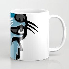 River Otter Head Mascot Coffee Mug