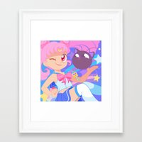 chibi Framed Art Prints featuring Chibi Usa by Pamela Barbieri