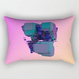 Sci-fi Cubes Rectangular Pillow