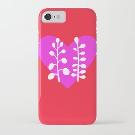 Two plants and one heart iPhone Case