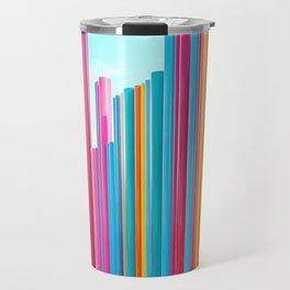 Colorful Rainbow Pipes Travel Mug