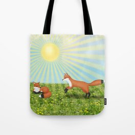 sunshine foxes Tote Bag