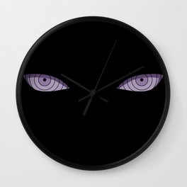Eyes of Six Paths Wall Clock