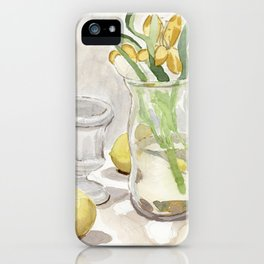 Flowers and Lemons iPhone Case