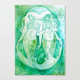 Goddess of Pisces - A Water Element Canvas Print