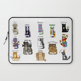 Science cats. History of great discoveries. Schrödinger cat, Tesla, Einstein. Physics, chemistry etc Laptop Sleeve