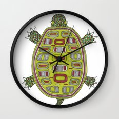 Tiled turtle Wall Clock