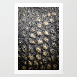Textura: Alligator Skin Art Print