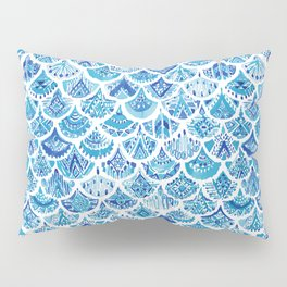AZTEC MERMAID Tribal Scallop Pattern Pillow Sham