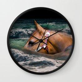 Horse ocean Wall Clock