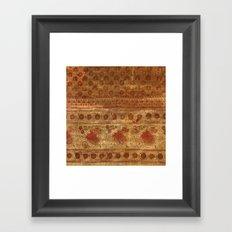 Indian textile Framed Art Print