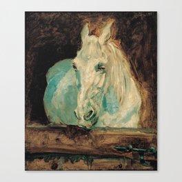 Henri De Toulouse Lautrec - The White Horse. Gazelle Canvas Print