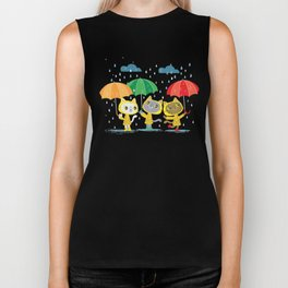 Rainy Day Kitty Cats Biker Tank