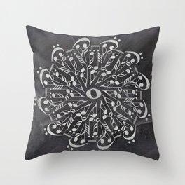 Musical mandala on chalkboard Throw Pillow