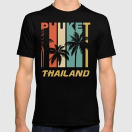 Retro Phuket Thailand Palm Trees Vacation T-shirt