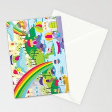 rainbow land Stationery Cards